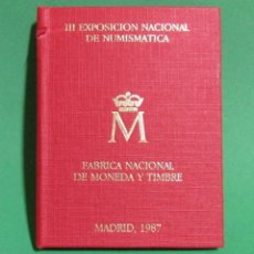 Monedas FNMT: CARTERA E-87 III EXPOSICION NACIONAL DE NUMISMATICA MADRID 1987 CONTIENE ENTRADA A LA EXPOSICION. Lote 51576917