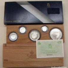 Monedas FNMT: ESTUCHE SERIE IV PLATA AÑO 1992 CON CERTIFICADO 100-200-500-1000-2000 PESETAS. Lote 193923020