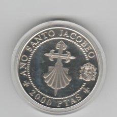 Monedas FNMT: AÑO SANTO COMPOSTELANO- CRUZ DE SANTIAGO Y VENERA- 2000 PESETAS- 1993-PROF. Lote 195208465