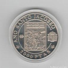 Monedas FNMT: AÑO SANTO COMPOSTELANO- PEREGRINOS ALEMANES EN LA RUTA JACOBEA- 2000 PESETAS- 1993-PROF. Lote 195208650