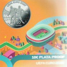 Monedas FNMT: 10 €UROS PLATA PROOF. U.E.F.A. €URO 2020. Lote 195394723