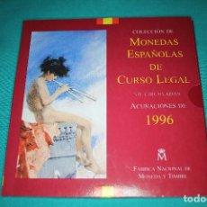 Monedas FNMT: ESPAÑA, ESTUCHE JUAN CARLOS I FNMT 1996 SERIE DE 8 VALORES EN FDC. Lote 196400358