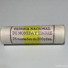 Monedas FNMT: FNMT CARTUCHO OFICIAL 25 MONEDAS 200 PESETAS 1986 S/C. CARTUCHO PRECINTADO E IMPECABLE.. Lote 196836762