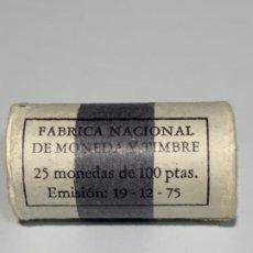 Monedas FNMT: FNMT CARTUCHO OFICIAL 25 MONEDAS 100 PESETAS *76. ÁGUILA DE SAN JUAN. SC. PRECINTADO E IMPECABLE.. Lote 196874623