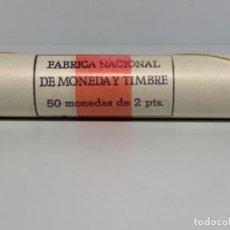 Monedas FNMT: FNMT CARTUCHO OFICIAL PRECINTADO 50 MONEDAS DE 2 PESETAS 1982. 1ERA VALOR 2 PTAS ALUMINIO. IMPECABLE. Lote 196921781