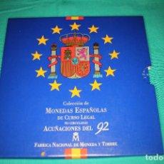 Monedas FNMT: ESPAÑA, ESTUCHE JUAN CARLOS I FNMT 1992 SERIE DE 10 VALORES EN FDC. Lote 197244826