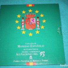 Monedas FNMT: ESPAÑA, ESTUCHE JUAN CARLOS I FNMT 1993 SERIE DE 8 VALORES EN PROOF. Lote 197244846