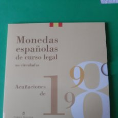 Monedas FNMT: 1998 ESPAÑA ESTUCHE FNMT FDC SERIE 8 VALORES NUMERADA. Lote 198390197