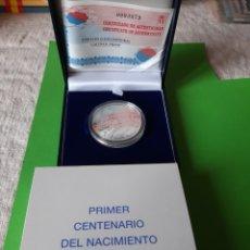 Monedas FNMT: 2002 8 REALES RAFAEL CERNUDA MONEDA PLATA PROOF 10 EUROS FABRICA MONEDA TIMBRE CERTIFICADO. Lote 198401061