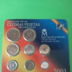 Monedas FNMT: 2001 ESPAÑA ÚLTIMAS PESETAS SET 8 MONEDAS NUMERADA FABRICA MONEDA TIMBRE. Lote 198420628