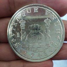 Monedas FNMT: MONEDA 8 REALES FELIPE V 1743 REPLICA ACUÑADA POR LA REAL CASA DE LA MONEDA BAÑO DE PLATA PURA. Lote 198428748