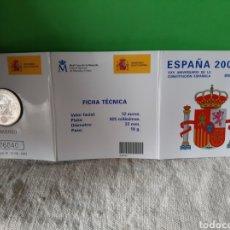 Monedas FNMT: 2003 CONSTITUCIÓN 12 EUROS NUMERADA CARTERA FNMT. Lote 198511033