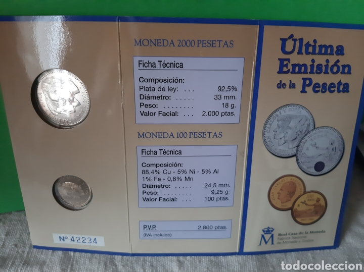 Monedas FNMT: 2003 España cartera oficial FNMT Homenaje peseta moneda 12 euros y 100 pesetas - Foto 2 - 198592522