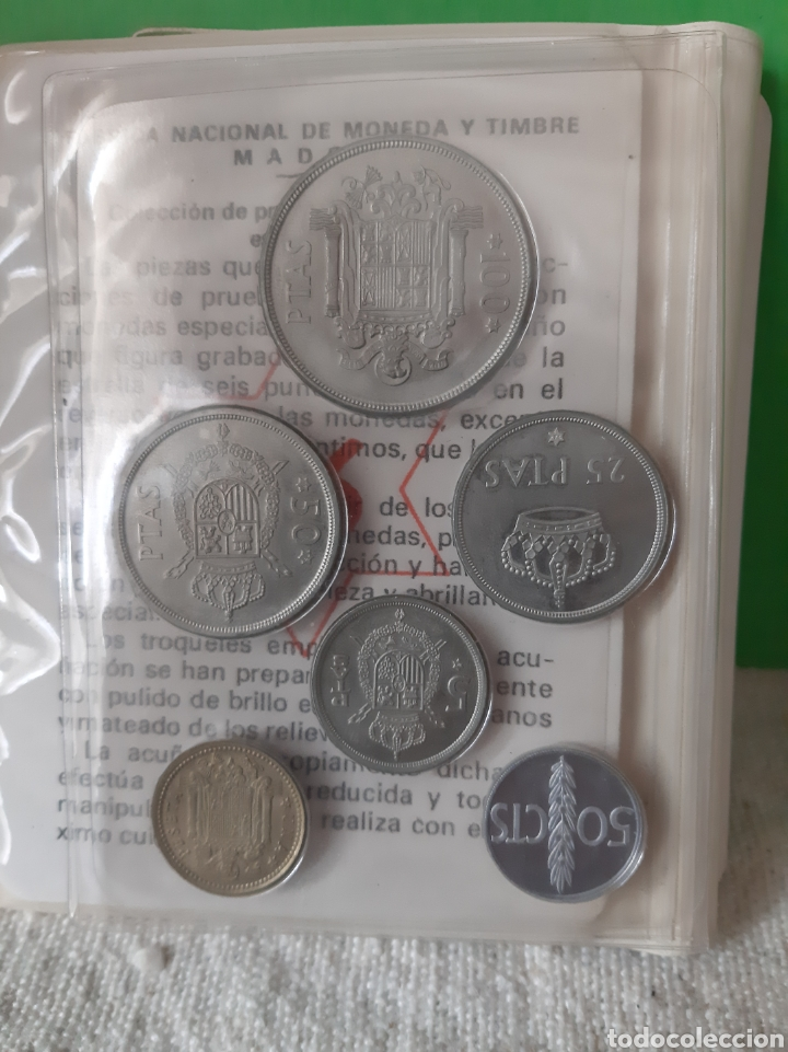 Monedas FNMT: PROFF Pruebas numismática FNMT 1975 *76 REY JUAN CARLOS I CARTERA ORIGINAL EXISTEN COPIAS - Foto 2 - 198596157