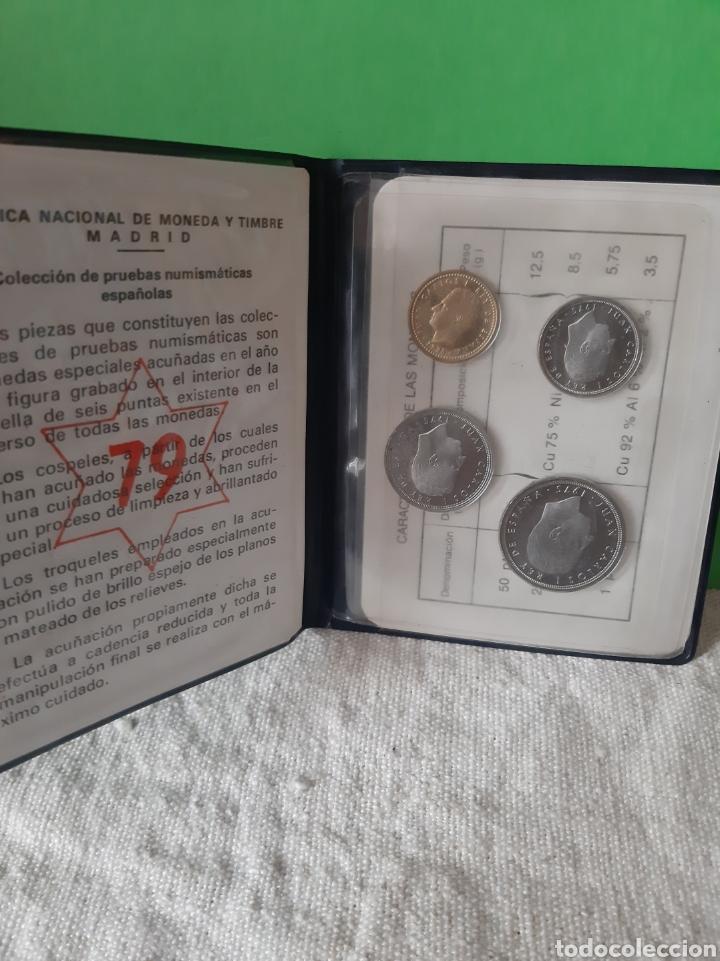 Monedas FNMT: Pruebas numismática España Fnmt Proof 1975 (*19*79 ) 4 valores original - Foto 2 - 198597261