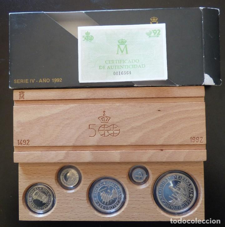 SERIE 5 MONEDAS 100-200-500-1000-2000 PESETAS 1992 FDC (Numismática - España Modernas y Contemporáneas - FNMT)