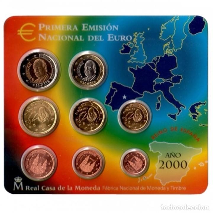 - ESPAÑA CARTERA OFICIAL -BLISTER- F.N.M.T. AÑO 2000 *PRIMERA EMISION NACIONAL DEL EURO*0 (Numismática - España Modernas y Contemporáneas - FNMT)