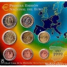 Monedas FNMT: - ESPAÑA CARTERA OFICIAL -BLISTER- F.N.M.T. AÑO 1999 *PRIMERA EMISION NACIONAL DEL EURO*. Lote 200060125