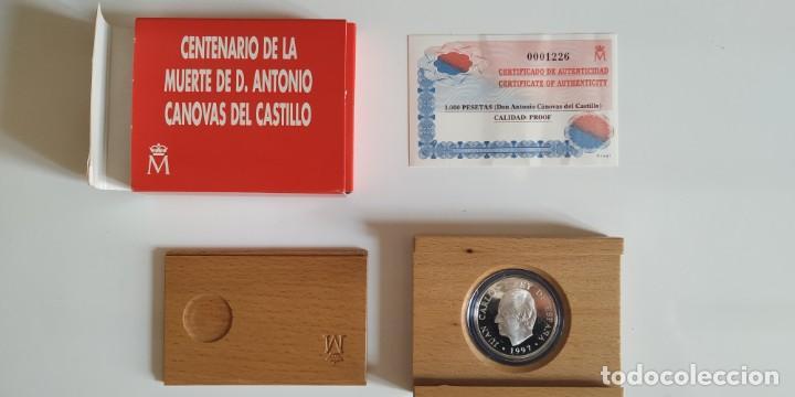 MONEDA DE PLATA. CENTENARIO MUERTE CANOVAS DEL CASTILLO (Numismática - España Modernas y Contemporáneas - FNMT)