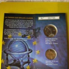 Monedas FNMT: 2007 ESPAÑA TRATADO ROMA MONEDAS 12 EUROS Y 2 EUROS CARTERAS FNMT. Lote 203352332