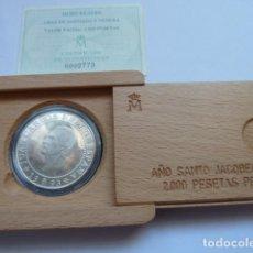 Monedas FNMT: 2000 PESETAS PLATA 1993, AÑO SANTO JACOBEO 1993, 8 REALES, SOLO 100.000 UNIDADES. Lote 205251717