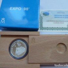 Monedas FNMT: MONEDA DE PLATA DE ESPAÑA 1000 PESETAS 1998 PROOF EXPO 98 LISBOA BUQUE ESCUELA J. S. EL CANO. Lote 205252293