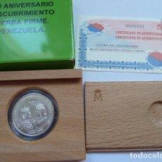 Monedas FNMT: MONEDA DE PLATA DE ESPAÑA 3 EUROS 1998, 500 ANIVERSARIO DESCUBRIMIENTO VENEZUELA TIERRA FIRME. Lote 205252931