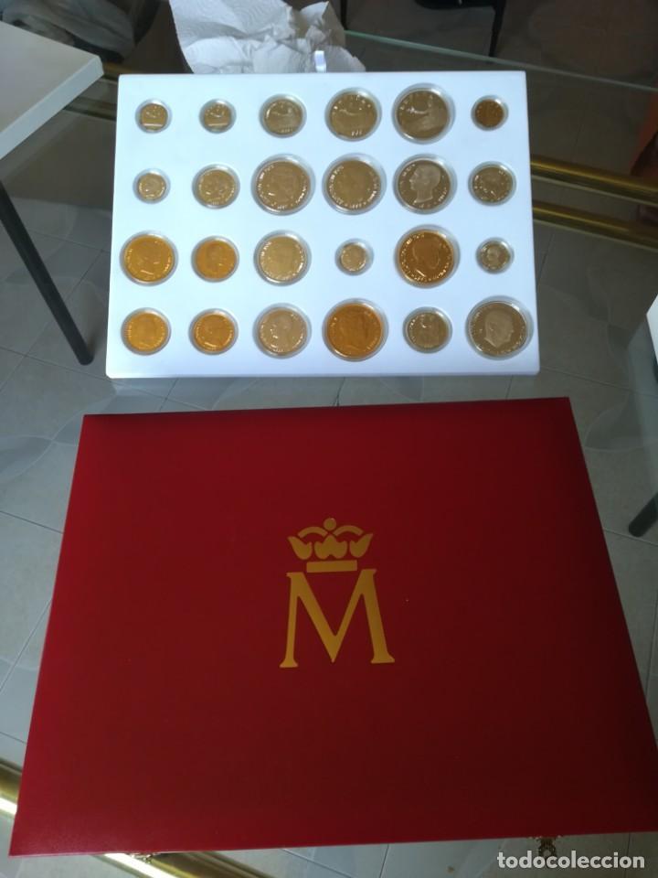 LA HISTORIA DE LA PESETA. FNMT 24 PIEZAS PLATA DE LEY Y PLATA CON BAÑO DE ORO (Numismática - España Modernas y Contemporáneas - FNMT)