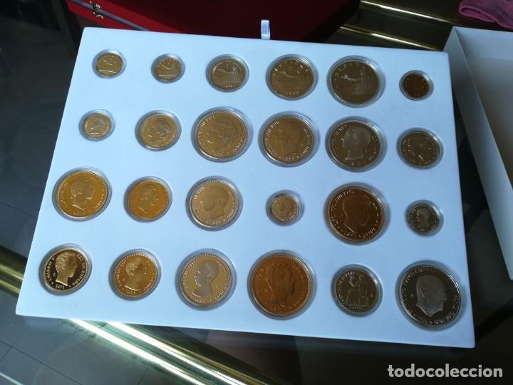 Monedas FNMT: LA HISTORIA DE LA PESETA. FNMT 24 PIEZAS PLATA DE LEY Y PLATA CON BAÑO DE ORO - Foto 2 - 205605583