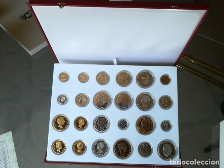 Monedas FNMT: LA HISTORIA DE LA PESETA. FNMT 24 PIEZAS PLATA DE LEY Y PLATA CON BAÑO DE ORO - Foto 6 - 205605583