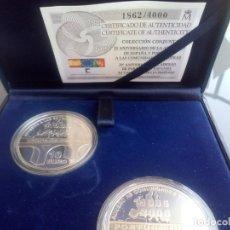 Monedas FNMT: SET COMPLETO DE 2 MONEDAS XX ANIVERSARIO ADHESION ESPAÑA Y PORTUGAL A LA C. EUROPEA. Lote 205669196