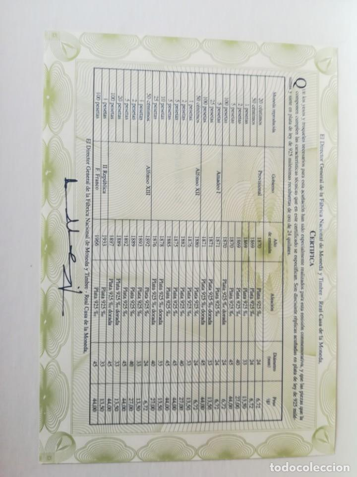 Monedas FNMT: LA HISTORIA DE LA PESETA. FNMT 24 PIEZAS PLATA DE LEY Y PLATA CON BAÑO DE ORO - Foto 10 - 205605583
