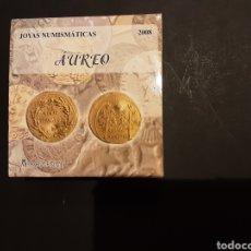 Monedas FNMT: ESTUCHE MONEDA DE ORO 20 EUROS 2008 ESPAÑA JOYAS NUMISMATICAS AUREO ROMANO. Lote 205860097