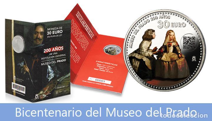 BICENTENARIO MUSEO DEL PRADO. FNMT. 30 EUROS. PLATA. 2019. CARTERA NUMERADA. SC (Numismática - España Modernas y Contemporáneas - FNMT)