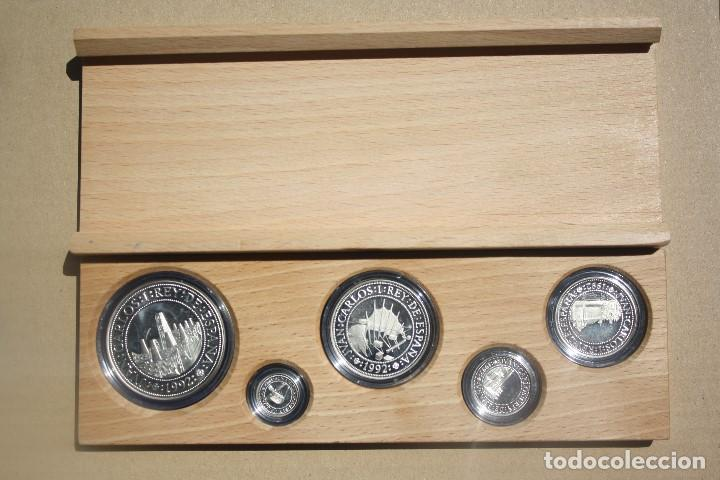 Monedas FNMT: COLECCION 5 MONEDAS PLATA 5º CENTENARIO EXPO 92 SEVILLA - Foto 2 - 206433180