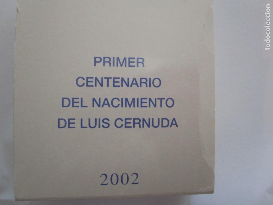 ESPAÑA . 10 EUROS DE PLATA DEL AÑO 2002 . LUIS CERNUDA . EN SU ESTUCHE OFICIAL PERFECTO (Numismática - España Modernas y Contemporáneas - FNMT)