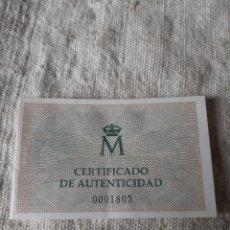 Monedas FNMT: CERTIFICADO V CENTENARIO FNMT 1989 FLOR CUÑO PROOF. Lote 207294871