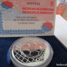 Monedas FNMT: MUNDIAL DE FUTBOL 2002 . 10 EUROS DE PLATA. ESTUCHE Y CERTIFICADO .RARA. Lote 207355576