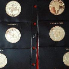 Monedas FNMT: II SERIE IBEROAMERICANA ENTRE DOS MUNDOS PLATA LOTE DE 10 MONEDAS PROOF ORIGINALES. Lote 207638988