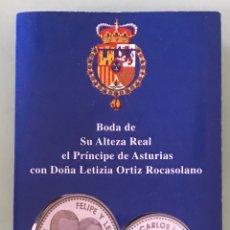 Monedas FNMT: MONEDA 12€ DE 2004. BODA SAR PRINCIPE DE ASTURIA Y LETIZIA ORTIZ. PLATA DE LEY. CARTERITA OFICIAL.. Lote 207640810