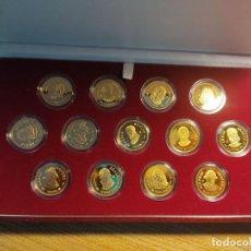 Monedas FNMT: ARRAS REALES.13 PIEZAS PLATA DE 925 MM RECUBIERTA DE ORO DE 24 QUILATES.24 MM CALIDAD: PROOF. Lote 208472381