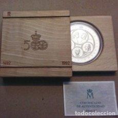 Monnaies FNMT: CINCUENTIN PLATA 10. 000 PESETAS..CONMEMORATIVA V CENTENARIO 1ª SERIE 1989.. Lote 209941102