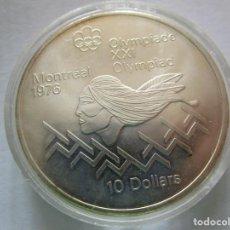 Monedas FNMT: 10 DOLARES DE PLATA . XXI OLIMPIADA DE MONTREAL . CANADA .GRAN TAMAÑO Y PESO . 48,60 G. SIN CIRCULAR. Lote 210660249