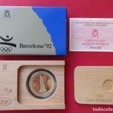 Monedas FNMT: MONEDA DE 2000 PESETAS.. PLATA. XXV OLIMPIADA. BARCELONA 1992.. Lote 210669776