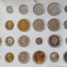 Monedas FNMT: ESTUCHE CON 24 MONEDAS HISTORIA DE LA PESETA. EMISION PLATA Y ORO. FNMT. ORIGINAL. CON CERTIFICADO.. Lote 211403819