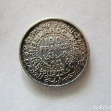 Monedas FNMT: MARRUECOS . 100 FRANCOS DE PLATA ANTIGUOS . AÑO 1953. Lote 211457926