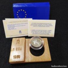 Monete FNMT: ESPAÑA 1989. 1 ECU. 1ª EMISION. EL RAPTO DE EUROPA. CON CAJA Y CERTIFICADO. Lote 238090275