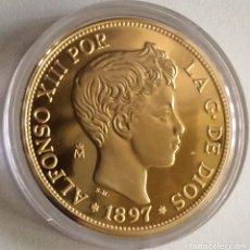 Monedas FNMT: MONEDA CONMEMORATIVA FNMT - 100 PESETAS ALFONSO XIII 1897 - PLATA 925 (44 G) - HISTORIA DE LA PESETA. Lote 212407837