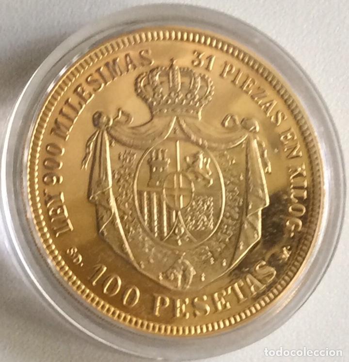 Monedas FNMT: MONEDA CONMEMORATIVA FNMT - 100 PESETAS AMADEO I 1871 - PLATA 925 (44 g) - HISTORIA DE LA PESETA - Foto 2 - 212408228