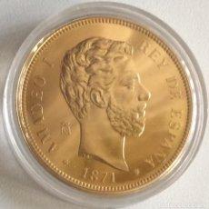 Monedas FNMT: MONEDA CONMEMORATIVA FNMT - 100 PESETAS AMADEO I 1871 - PLATA 925 (44 G) - HISTORIA DE LA PESETA. Lote 212408228